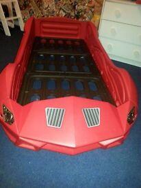 Red Racing Car Bed - No Mattress