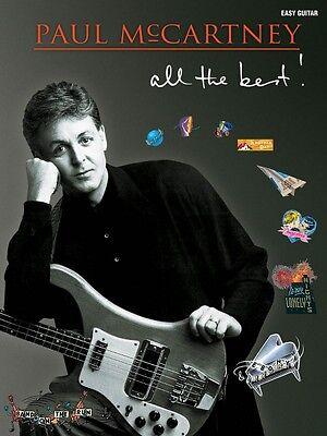 Paul McCartney All the Best Sheet Music Easy Guitar Book NEW 000702248