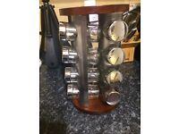 Revolving spice rack 16 jars
