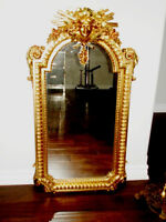1986 KING LOUIS X1V Putti Cherub GILT MIRROR ornate DECORATOR Pc