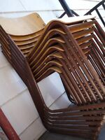6 vintage school chairs TUBE CO. LTD (made in Woodstock Ontario)
