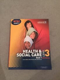 Edexel Btec level 3 health & social care book and skills guide boo