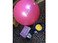 65cm USA PRO Yoga Ball & Pump Set