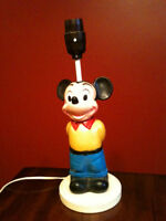 Vintage Mickey Mouse & Winnie The Pooh Lamps