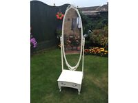 Beautiful cheval mirror with ornate detail