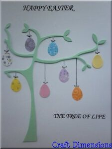 EXCLUSIVE CONTEMPORARY EASTER EGG TREE BRANCH DIE CUTS