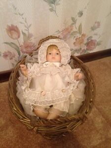 Doll in basket