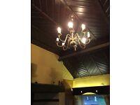 Antique chandelier brass