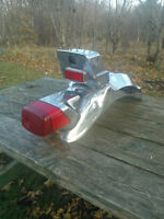 Chrome Rear Fender with Tail Light and Storage Compartment