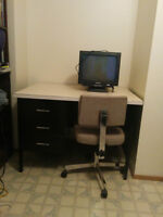metal desk & chair for sale