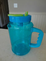 Large Bubba Travel Mug - Clear Blue with Spout
