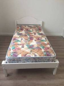 White Color Timber Single Bed With Mattress Wantirna South Knox Area Preview