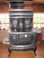 Early 1900's Queen Atlantic Wood Burning Stove