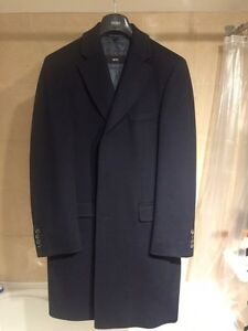 Hugo Boss Navy Wool Winter Coat