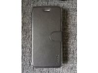 Black leather wallet case iPhone 6