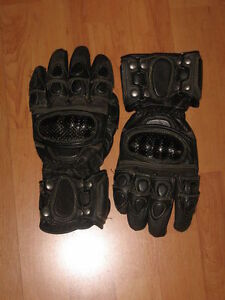 Gants cuir moto / motorcycle leather gloves