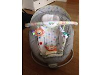 Bright Starts Taggies soothe me soft baby bouncer / chair