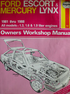 Ford Escort/Mercury Lynx - Haynes Workshop Manual '81-'88