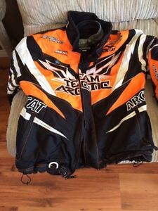 Arctic cat two-piece skidoo suit