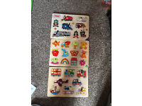 Toddler wooden puzzles excellent condition