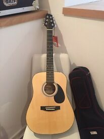 BRAND NEW - 3/4 length Stagg SW201 Acoustic Guitar with soft carry case