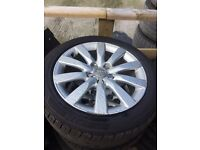Audi A4 Alloys 245/45/ 17 inch. Great tyres