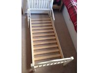 Children's white wooden bed