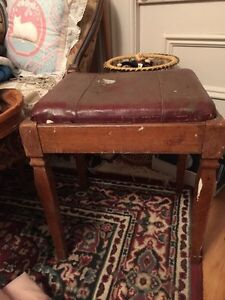 Antique High Chair and Sewing Stool Peterborough Peterborough Area image 4