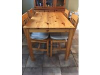 Solid Pine Farmhouse Style Table & Chair Set