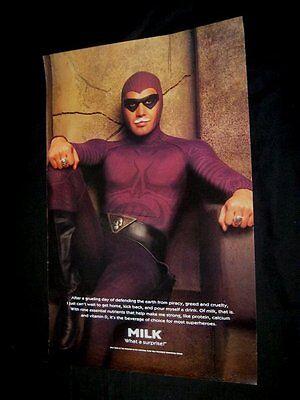 Original 1996 THE PHANTOM BILLY ZANE MILK PROMOTION Vintage Poster NOT A REPRINT