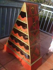 Vintage 70's pyramid wine rack, work of art, from Bali Hornsby Hornsby Area Preview