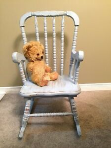 Antique Painted Children's Rocking Chair