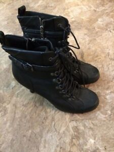 Bliss size 10 black leather boots