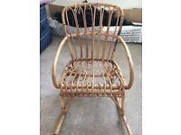 Children's wicker rocking chair!