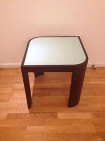 Designer Glass and wood side table