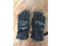 Leather Motorbike gloves, women's xs