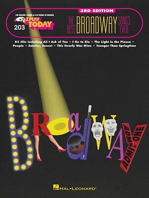The Best Broadway Songs Ever 3rd Edition Sheet Music E-Z Play Today Bo