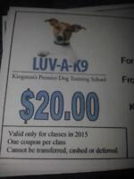 4- $20 Gift Certificates for LUV-A-K9 $80.00 value for $40.00