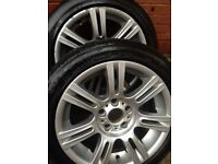 "REDUCED Price 17"" Bridgestone used tyres with alloys- good condition"