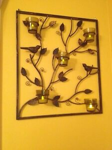 Iron Bird Design Votive Wall Decor