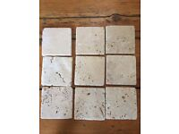 Travertine tumbled marble tiles