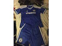 Boys Chelsea kit top age 11/12 shorts 9/10