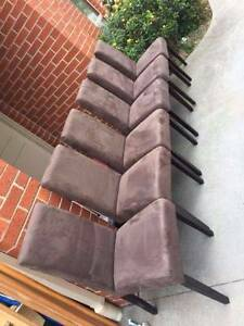 excellent 6x chairs with suede material , can delivery at extra f Box Hill North Whitehorse Area Preview