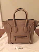 CELINE MINI LUGGAGE TOTE in Dune/Beige-100% Authentic Pre-owned