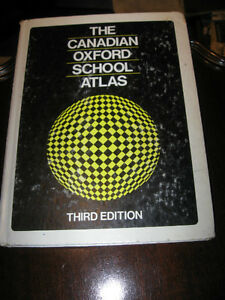 1972 EDITION..THE CANADIAN OXFORD SCHOOL ATLAS...THIRD EDITION W