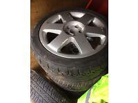 Vw Audi Alloy wheels x 4 vgc tyres like new