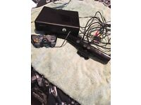 Xbox 360 kinext with all leads and contorals exalent condition also have some games