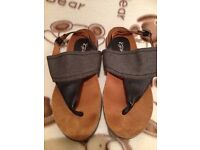 WOMENS NAVY SANDALS NEW SIZE 5