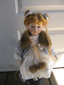 Collectible china dolls.