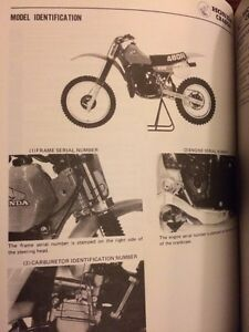 1982 Honda CR480R Shop Manual Regina Regina Area image 3